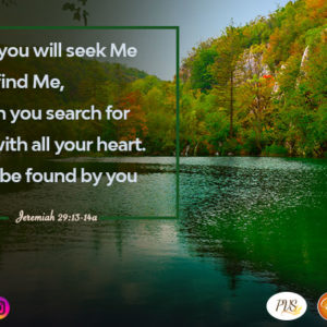 Seek God till you find Him!
