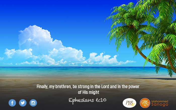 Let God search your loins and regain your strength !