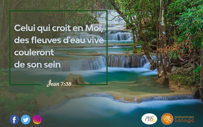 De la soif aux sources d'eaux: ta destinée est glorieuse !