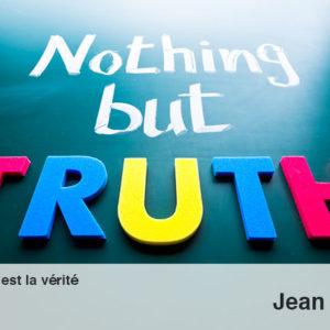 Marche dans la vérité et non la réalité !