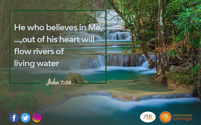 From your thirst to springs of water: your destiny is glorius !