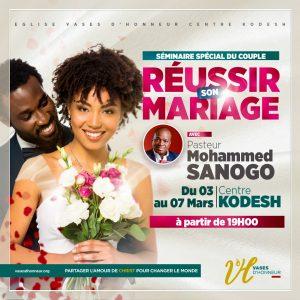 7 PRINCIPES D'ORIENTATION DIVINE POUR UN MARIAGE REUSSI I Jour 5 I 2e culte I 07-03-2021