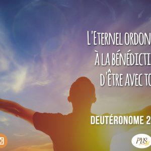 QUE LA BÉNÉDICTION DIVINE S'ATTACHE A TOI !